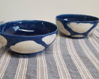 Set of 4 Large ramen bowl in Cloud pattern
