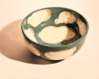 Blue Clouds on Small Salad Bowl