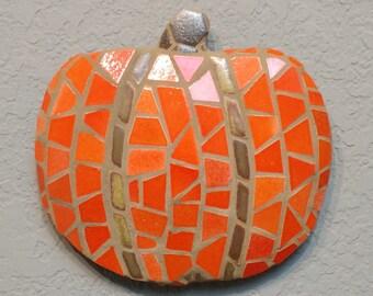 Mosaic Pumpkin wall hanging