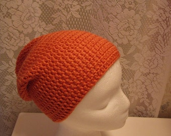 FREE SHIPPING Persimmon Slouchy Hat, Hat, Cap