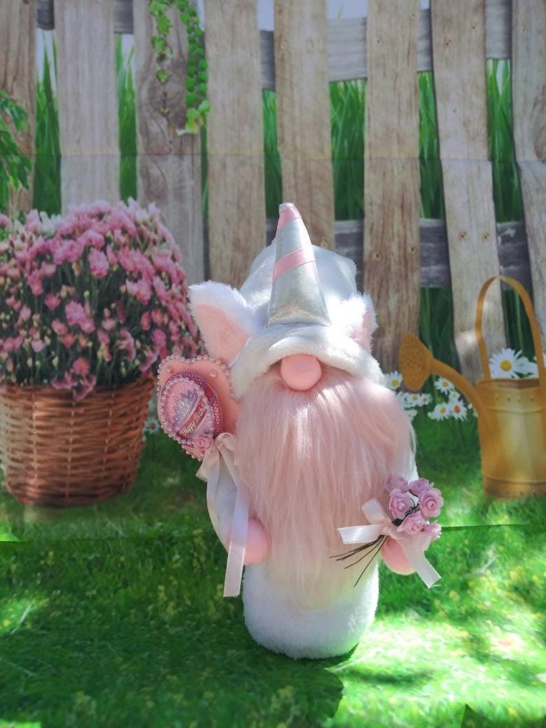 Happy birthday unicorn gnome CUSTOM MADE image 0