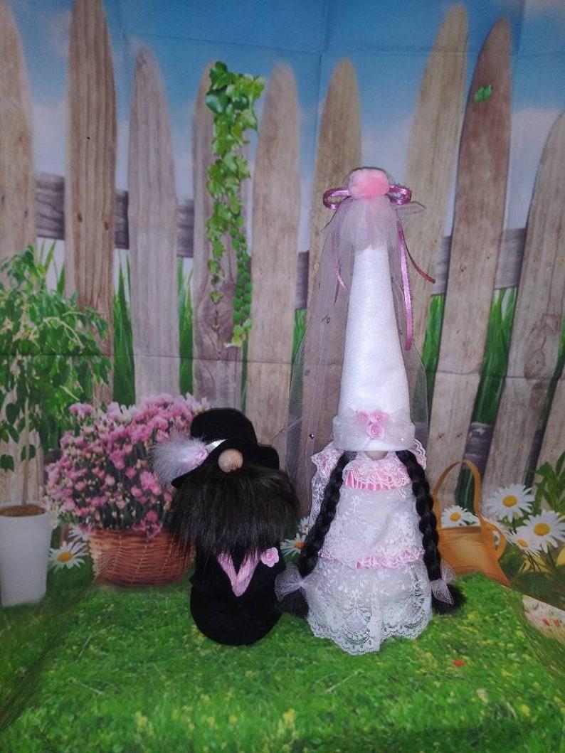 Bride and groom gnomes wedding gnome CUSTOM MADE image 0