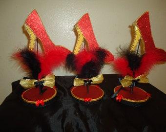 6 High heel centerpieces Custom Made