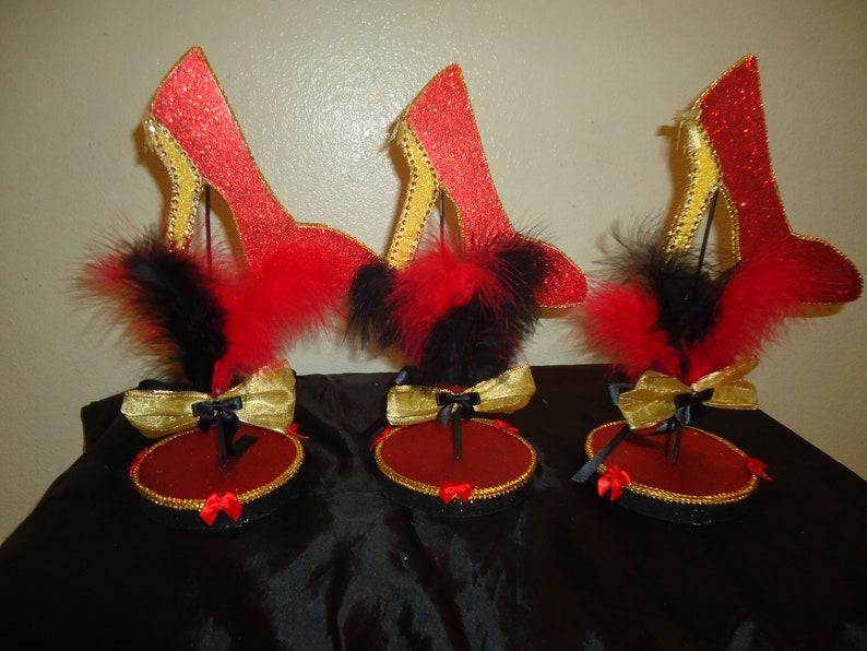 6 High heel centerpieces Custom Made image 0