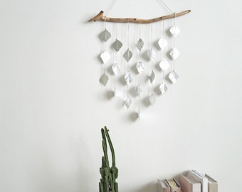 Very Silver Drops, wall hanging, hanging mobile, housewarming gift, home decor
