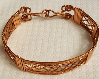 Hand Crafted Copper Wire Wrapped Bracelet