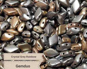 Gemduo 8x5mm Crystal Grey Rainbow