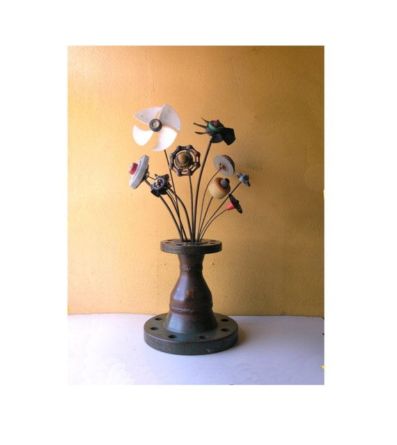 Modern Industrial Flower Vase Wedding Hotel Lobby Table Decor Etsy