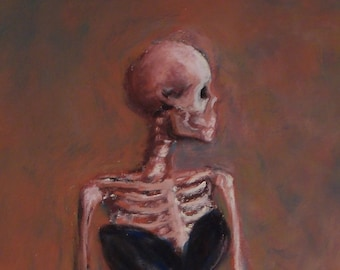 Madame X-Ray - skeleton parody spoof of Sargent's Madame X downloadable print