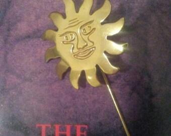 vintage 1980s sun stick pin