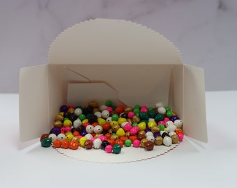 Hand Painted Paper Beads Color Kit Box