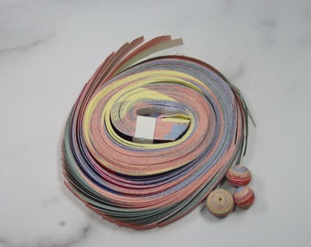 Large Round Paper Strips (10/12/14mm) + 3 Unglazed Samples