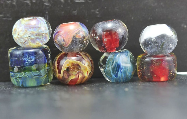 Sale Beads 16 Destash lampwork glass beads SRA Destash Bead Mix soap Assorted Lot borosilicate glass beads Mixed Lot SALE 50/% off