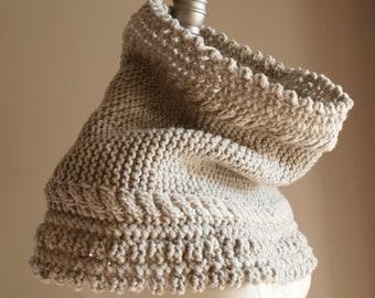 Knitting Pattern PDF x Victoria Cowl x Boho Neck Warmer x Stylish Winter Cowl x Cable & Lace Knitting Pattern x Hygge Style x Slow Fashion
