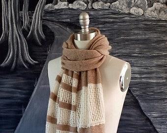 Knitting Pattern PDF x Alsace Scarf x Warm Cashmere Scarf Pattern x Boho Chic Style x Hygge Fashion x Slow Fashion Knit x Warm Scarf Pattern