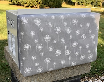Inside Window or Wall Air Conditioner Cover - many sizes and fabric choices available