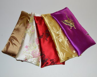 10 Wholesale Satin Eye Pillows Bulk in Lavender or Unscented, 8 inch or 10 inch