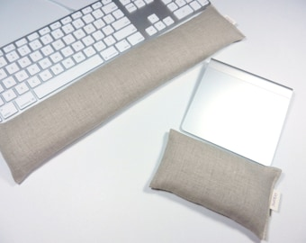 17 inch Keyboard Wrist Rest and/or 6 inch Track Pad or Mouse Wrist Rest - Choice of Fabric Color