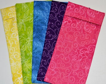 Set of 7 Washable Cotton Covers for your eye pillows Wholesale Bulk Lot