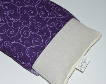 Microwaveable Flax Seed Pillow with Washable Cover - 12 x 5 - Choice of Color and Lavender or Unscented