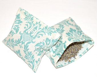 Refillable Lavender Drawer or Dryer Sachets with Hook and Loop Closure - Set of 2