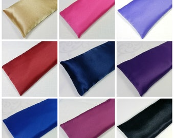 Wholesale 15 Satin Eye Pillows Bulk Lot - 8 inch or 10 inch length - choice of Lavender or Unscented