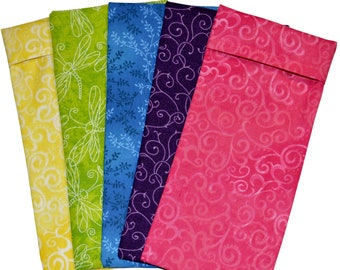 Set of 10 Washable Cotton Covers for your eye pillows Wholesale Bulk Lot