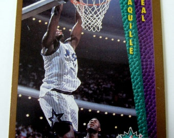 40623da7734 Shaq Shaquille O Neal Rookie RC Basketball Card 1992-93 Fleer Rare Slam  Dunk Collectible Investment Gift + Bonus