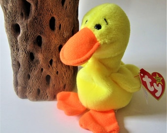 Ty Beanie Baby Retired 1994 QUACKERS Duck Original Yellow Plush Toy Animal  Collectible Duckling Rare Gift Free Shipping 4c22f5c59f22