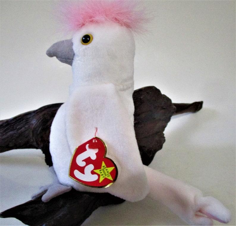 d7384503b35 KUKU the White Cockatoo Bird Ty Beanie Baby Retired 1997