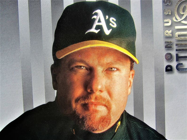 Baseball Mark Mcgwire Oakland Athletics As Large 8x10 Card 1997 Donruss Studio Portrait Rare Collectible Investment Gift Hall Of Fame