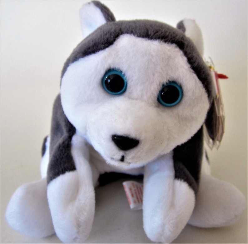 0f96020bdcd NANOOK Ty Beanie Babie Retired 1996 Original White Gray Plush
