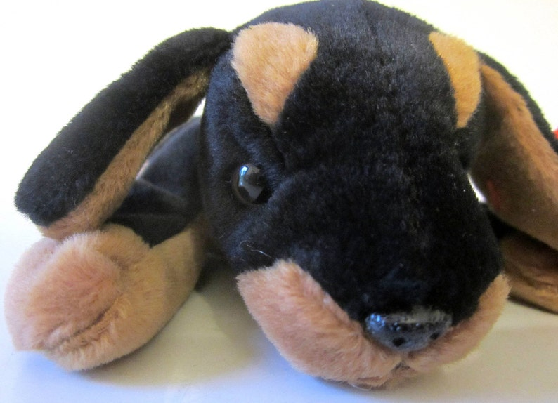 901357e3814 Ty Beanie Baby DOBY Retired 1996 Original Tan Black Dog Plush