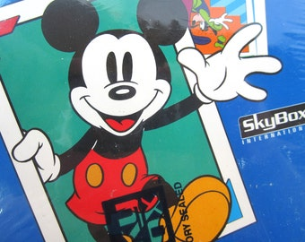 Disney Mickey Mouse 1992 Skybox Wax Pack Box Sealed Gift Idea Series II Holograms