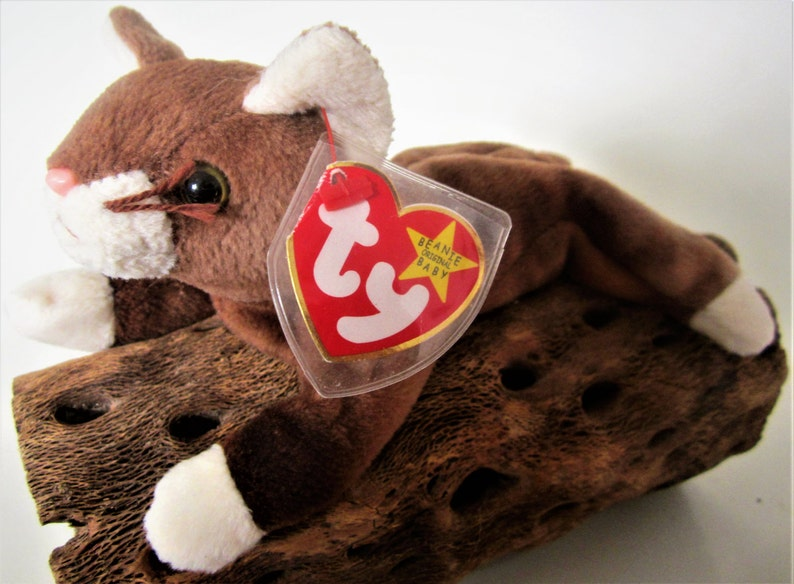 5ee192cdf33 POUNCE the Cat Ty Beanie Baby Retired 1997 Original White