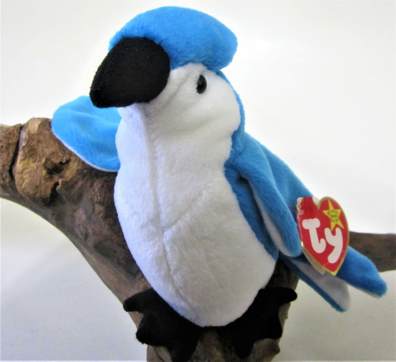 af1d45d1522 Ty Beanie Baby Rocket The Blue Jay Bird