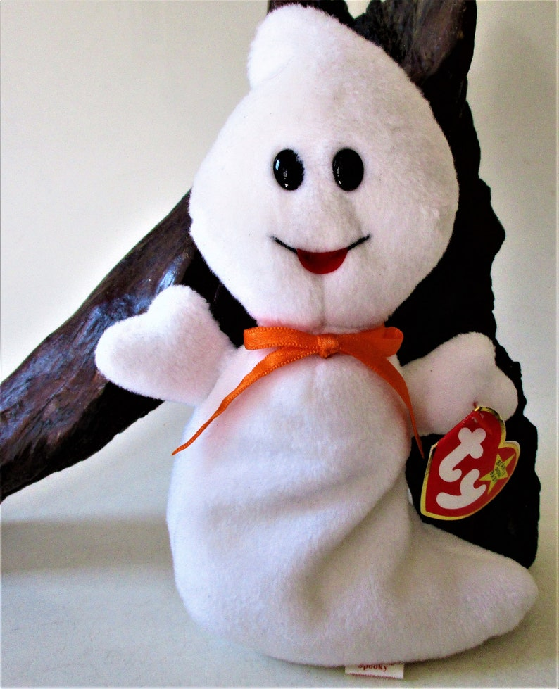 a6eeac30d9a Ty Beanie Baby SPOOKY the White Ghost Retired 1995 Original