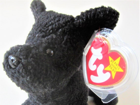 098a1fe40e9 SCOTTIE Ty Beanie Babie Retired 1996 Original Black Plush Toy