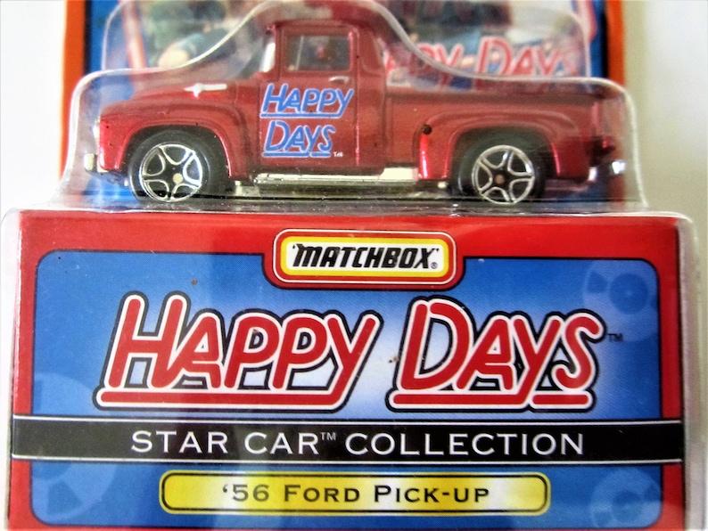 Fonz 1956 Pick 1960 Race Richie Boîte Série 1 Happy Days Des D'allumette Camion 1997 Ford Cadeau Années Voiture Up Rouge Miniature Star Rare 6f7gYby