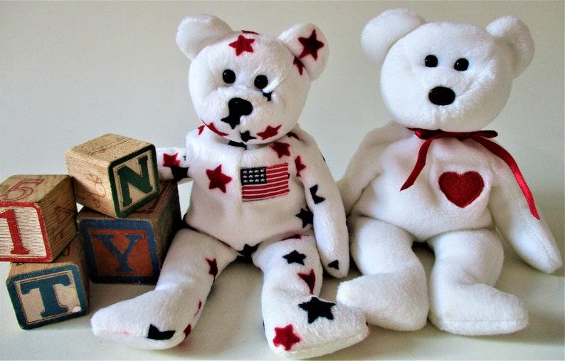 3550ac08786 VALENTINO GLORY Bear Ty Beanie Baby Retired 1994 1997 Original