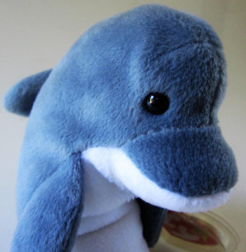 828e383eb5f ECHO the Grey White Dolphin Ty Beanie Baby Retired 1996