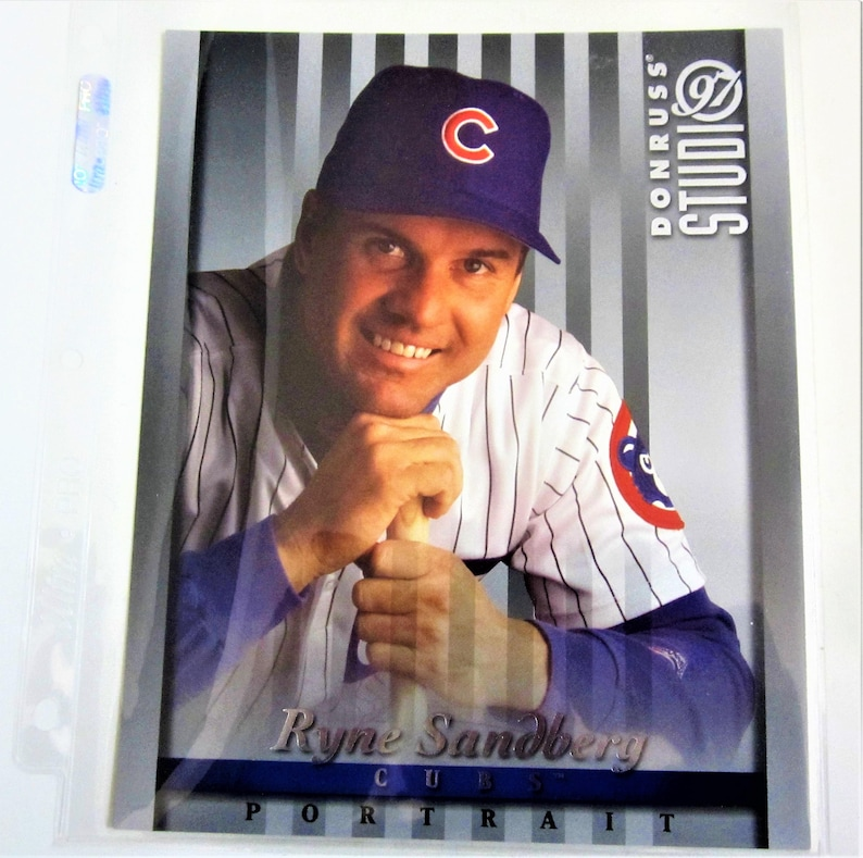 Ryne Sanberg Chicago Cubs Team Baseball Large 8x10 Card 1997 Donruss Studio Portrait Rare Collectible Gift Ideainvestment Gift Hall Of Fame