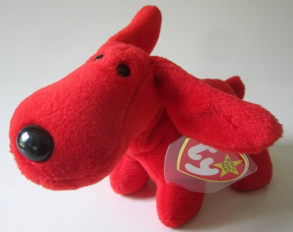 Rover 1998 Beanie Buddy 1st Gen Stuffed Animal Red Dog New! See My Store