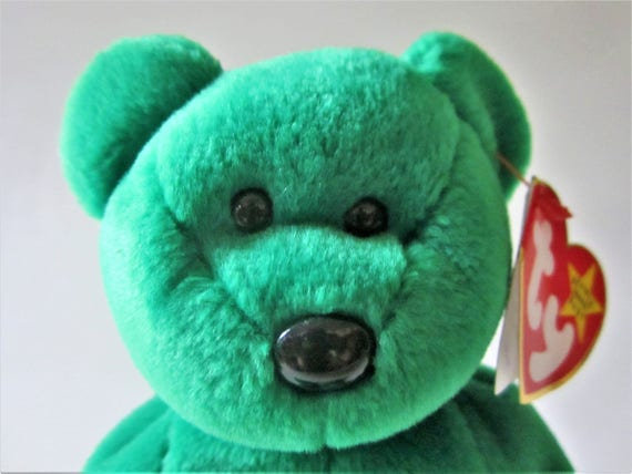 da2437c7eab ERIN Irish Bear Ty Beanie Baby Retired 1997 Original Green