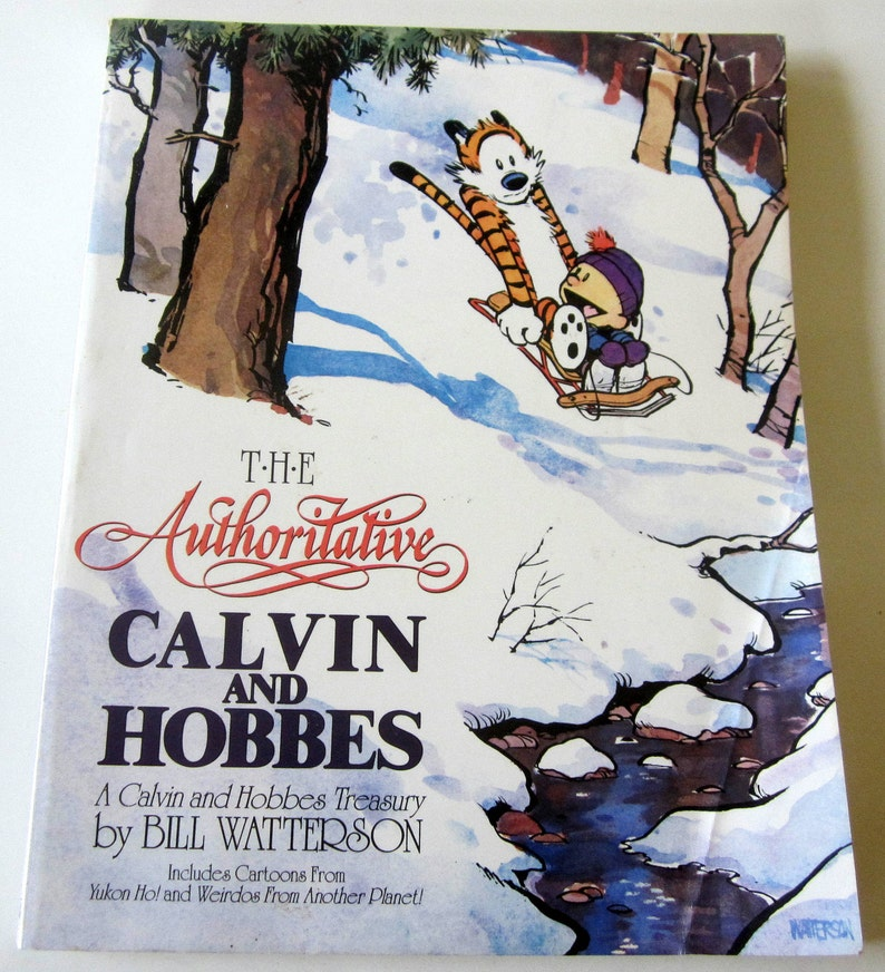 Calvin And Hobbes Coffee Table.Calvin And Hobbes The Authoritative Book Softcover Color Pictures Coffee Table Collectible Sunday Funnys Humor Bill Watterson Author