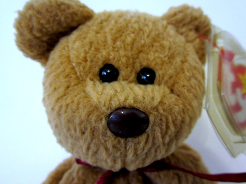 d391f41eab0 CURLY BEAR Ty Beanie Baby Retired 1993 Original Brown Plush