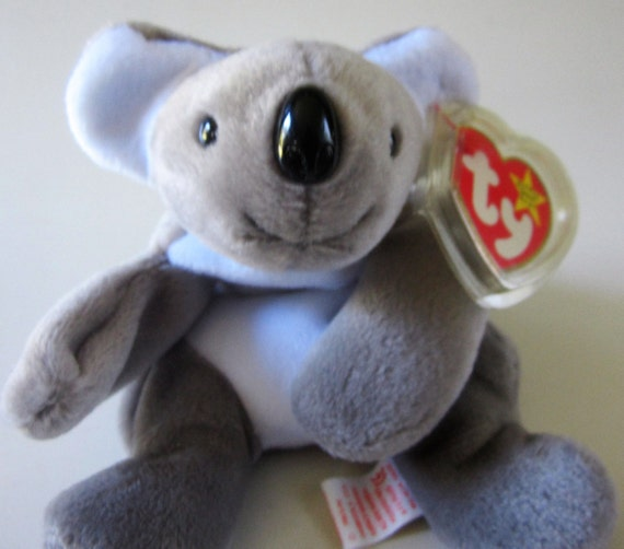 661410691c3 Ty Beanie Baby MEL Koala Bear Retired 1996 Original Grey White Plush Toy  Animal Collectible January Birthday