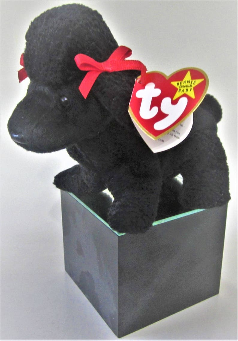 GIGI Poodle Ty Beanie Babie Retired 1997 Original Black Plush  7b97d7332f85