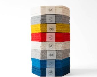 Felt Hexagon Coaster - 100% Wool Felt, Set of Two or Set of Four - Multiple Colors