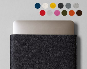 """Felt MacBook Pro / MacBook Air Sleeve - Made in the USA - Short Side Opening for 16"""", 15"""", 13"""", 12"""", 11"""""""